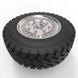 Rendição da roda de carro 3d Imagens de Stock