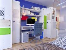 Rendição da sala do ` s das crianças do design de interiores ilustração do vetor
