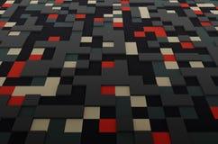 Rendição da superfície colorida com quadrados Fotos de Stock Royalty Free