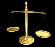 Rendição das escalas de peso 3D de justiça Foto de Stock Royalty Free