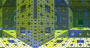 Rendição de aço da construção 3d do fundo metálico Imagens de Stock Royalty Free