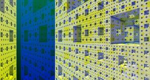 Rendição de aço da construção 3d do fundo metálico Imagens de Stock
