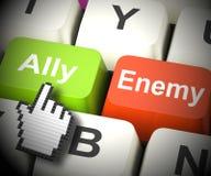 Rendição de Ally Friend Computer Mean Partnership 3d ilustração royalty free