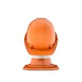 Rendição de cone e de capacete listrados do tráfego nela Fotografia de Stock