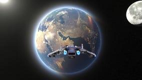 rendição de 3D CG do navio de espaço ilustração do vetor