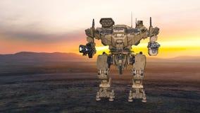 rendição de 3D CG do robô ilustração do vetor