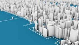 rendição de New York 3d Foto de Stock