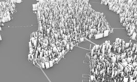 rendição de New York 3d Fotografia de Stock