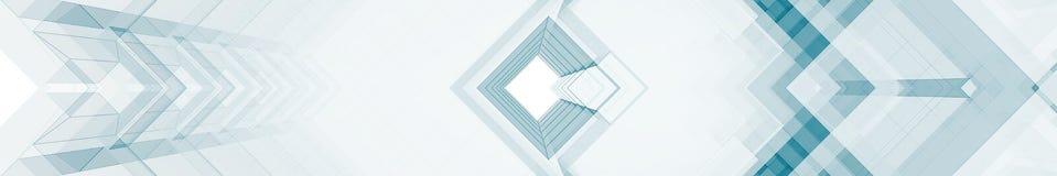 Rendição de vidro azul do contemporâneo 3d Foto de Stock Royalty Free
