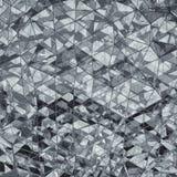 Rendição de vidro cinzenta mergulhada poligonal triangular da forma 3D Foto de Stock
