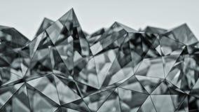 Rendição de vidro moderna poligonal da forma 3D com DOF Imagem de Stock