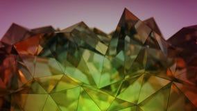 Rendição de vidro moderna poligonal da forma 3D com DOF Fotografia de Stock