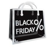 Rendição digital dos ícones 3D das vendas de Black Friday ilustração royalty free