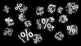 Rendição digital dos ícones 3D das vendas de Black Friday ilustração stock