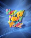 Rendição do ano novo feliz ilustração do vetor
