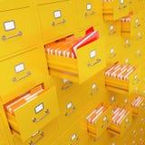 Rendição do armário de arquivo 3D Imagem de Stock Royalty Free