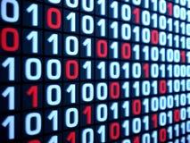 Rendição do código binário Imagens de Stock