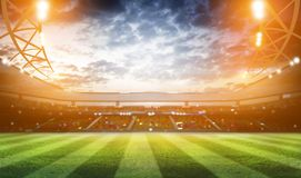 rendição do estádio 3d Imagem de Stock