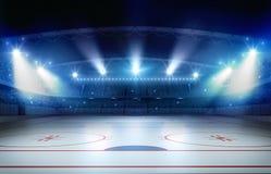 Rendição do estádio 3d do hóquei em gelo ilustração stock