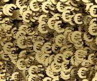 Rendição do fundo 3d do símbolo do ouro euro- Fotografia de Stock