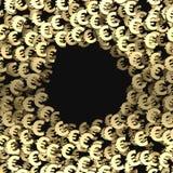 Rendição do fundo 3d do símbolo do ouro euro- Imagens de Stock