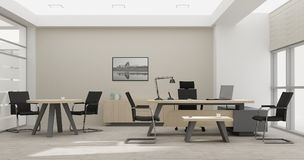 Rendição do mobiliário de escritório 3D do VIP Foto de Stock Royalty Free