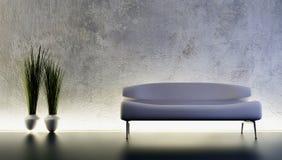 Rendição do sofá 3D Imagens de Stock