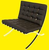 Rendição do sofá 3D de Brown Fotos de Stock