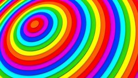 Rendição dos anéis concêntricos 3D do inclinação do arco-íris Imagem de Stock