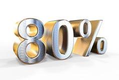 80 rendição dos por cento 3d que pode ser usada para a venda, o investimento, Fotos de Stock Royalty Free