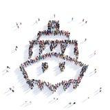 Rendição dos povos 3D do navio Foto de Stock Royalty Free