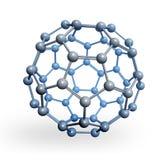 Rendição esférica da molécula 3D Foto de Stock