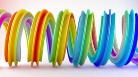 Rendição espiral torcida colorida vívida da forma 3D com DOF Fotografia de Stock Royalty Free