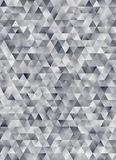 Rendição geométrica abstrata do teste padrão 3d do triângulo Fotos de Stock Royalty Free