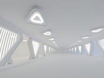 Rendição grande clara vazia do salão 3D Fotos de Stock