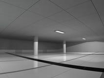 Rendição grande clara vazia do salão 3D Imagem de Stock