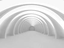Rendição grande clara vazia do salão 3D Fotos de Stock Royalty Free