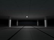 Rendição grande clara vazia do salão 3D Imagem de Stock Royalty Free