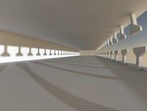 Rendição grande clara vazia do salão 3D Foto de Stock