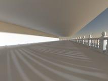 Rendição grande clara vazia do salão 3D Foto de Stock Royalty Free