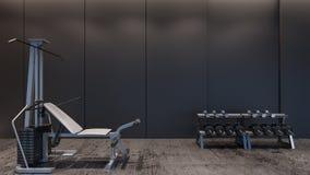 Rendição gym/3D moderna imagens de stock royalty free
