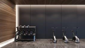 Rendição gym/3D moderna foto de stock