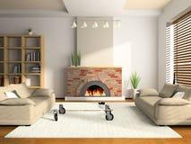 Rendição Home do interior 3D ilustração royalty free