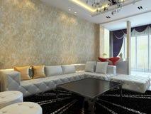 Rendição Home do interior 3D Imagens de Stock Royalty Free
