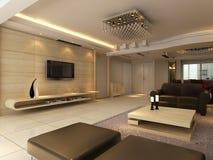 Rendição Home do interior 3D Foto de Stock