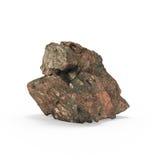 A rendição mineral das matérias primas 3d Imagens de Stock