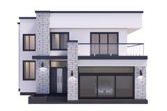 Rendição moderna da casa 3d no fundo branco ilustração royalty free