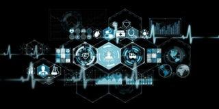 Rendição moderna da relação 3D dos cuidados médicos ilustração royalty free