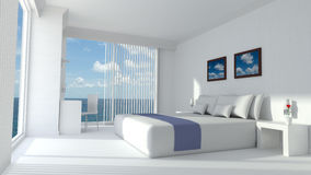 Rendição moderna da sala de hotel de luxo 3D Fotos de Stock
