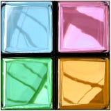 Rendição Photorealistic da paleta de vidro colorida ilustração stock